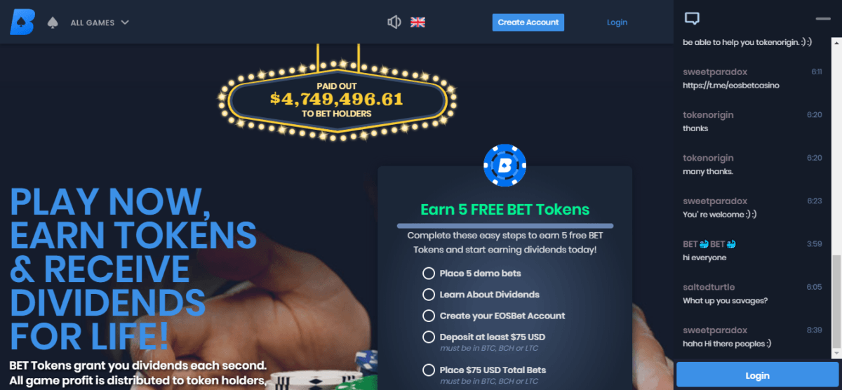 EOS Based Casino